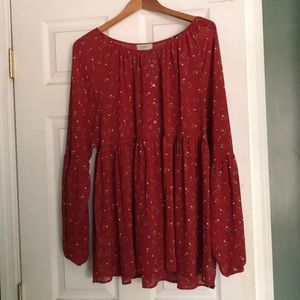 NWT! Long Sleeve Woven Top